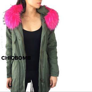 Delevingne Faux Fur parka jacket